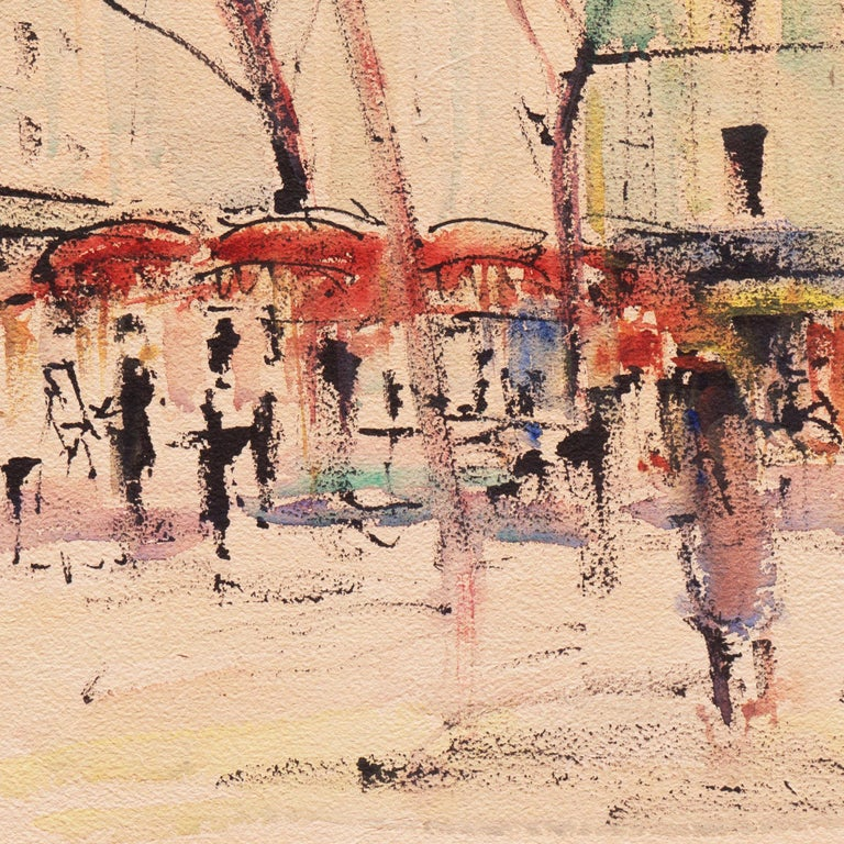 'Impressionist View of Montmartre with Sacré-Cœur', Mid-century Paris For Sale 1