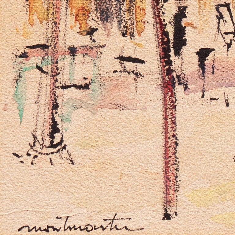 Montmartre, Paris   (Sacré-Cœur, Bell Tower, Impressionism, Modernism) - Impressionist Art by Charles Feola
