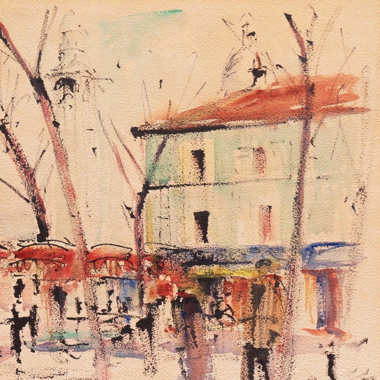 'Impressionist View of Montmartre with Sacré-Cœur', Mid-century Paris For Sale 2