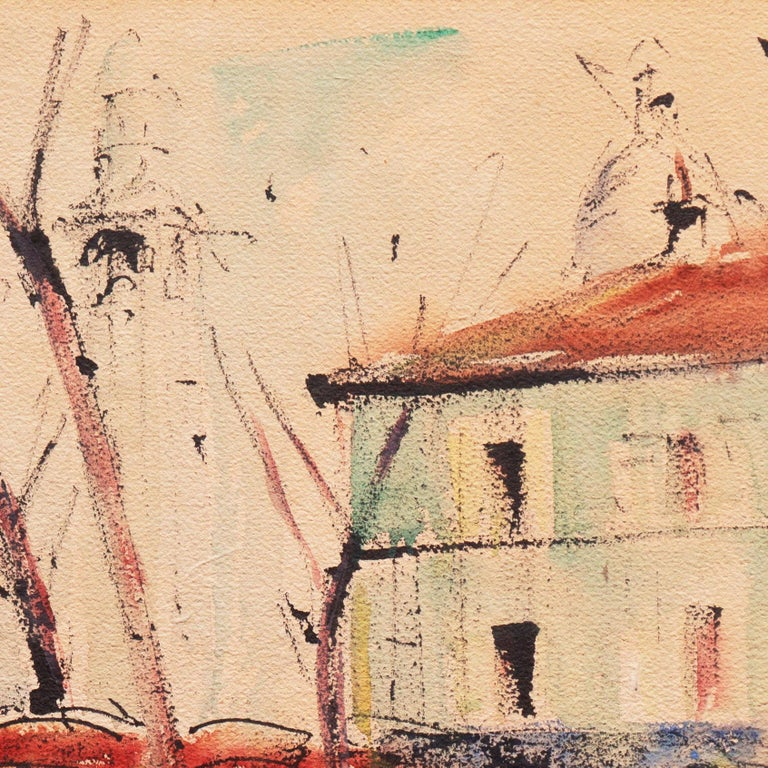 'Impressionist View of Montmartre with Sacré-Cœur', Mid-century Paris For Sale 3