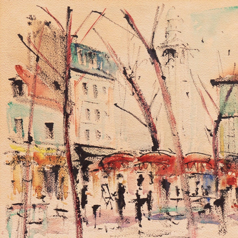 'Impressionist View of Montmartre with Sacré-Cœur', Mid-century Paris For Sale 4