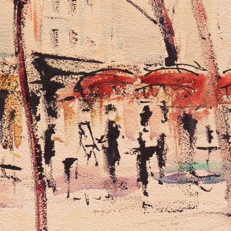 'Impressionist View of Montmartre with Sacré-Cœur', Mid-century Paris For Sale 5