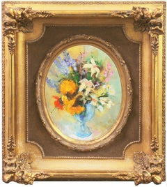 A Posy of Wildflowers   (Still-Life, Framed, Modernism, Post-Impressionism)