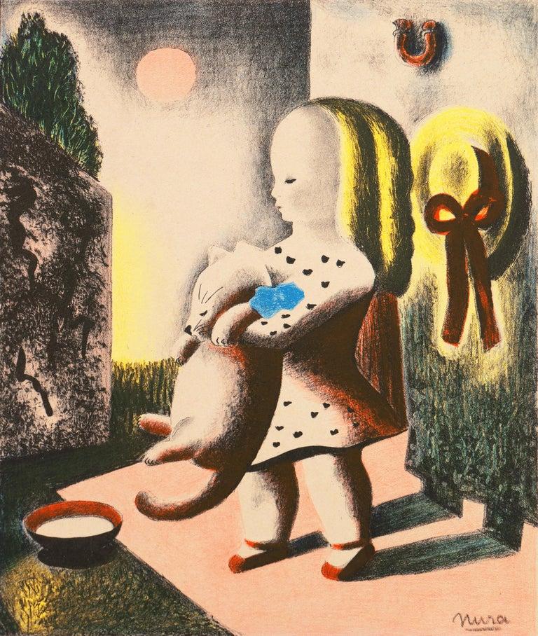 Nura Ulreich Animal Print - Art Deco, 'Anabel & Millicent', Woman Artist, AIC, ASL, Paris, Salon d'Automne
