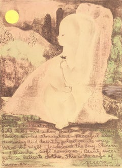 Summer   (Modernism, Woman Artist, child, art deco, bird, nature, poem)