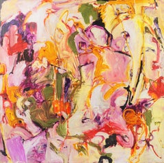 Large American Action Abstract by California Bay Area Woman Artist