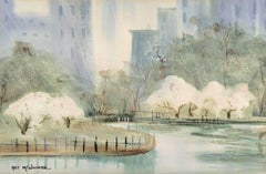 Central Park in Spring (Manhattan, New York, 5th Avenue, Dakota)
