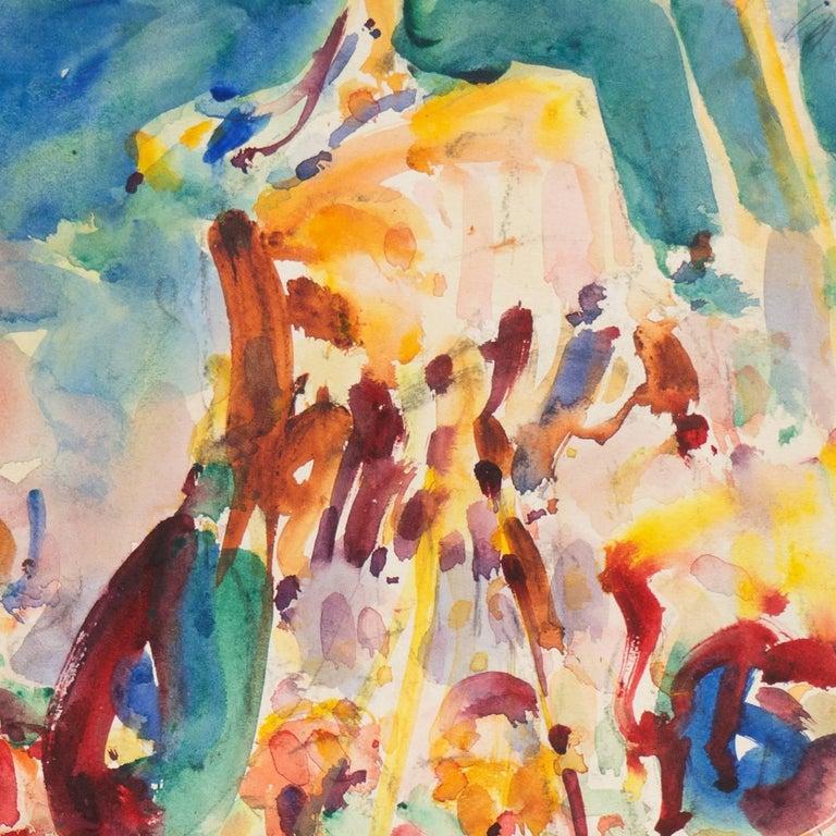 Post Impressionist Burmese Water Pageant; Myanmar by Carmel Artist; PAFA, AIC 4