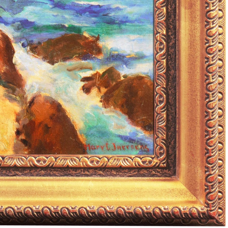 'Coastal Breakers', Post-Impressionist Mid-century Oil, Woman Artist - American Impressionist Painting by Mary Juergens