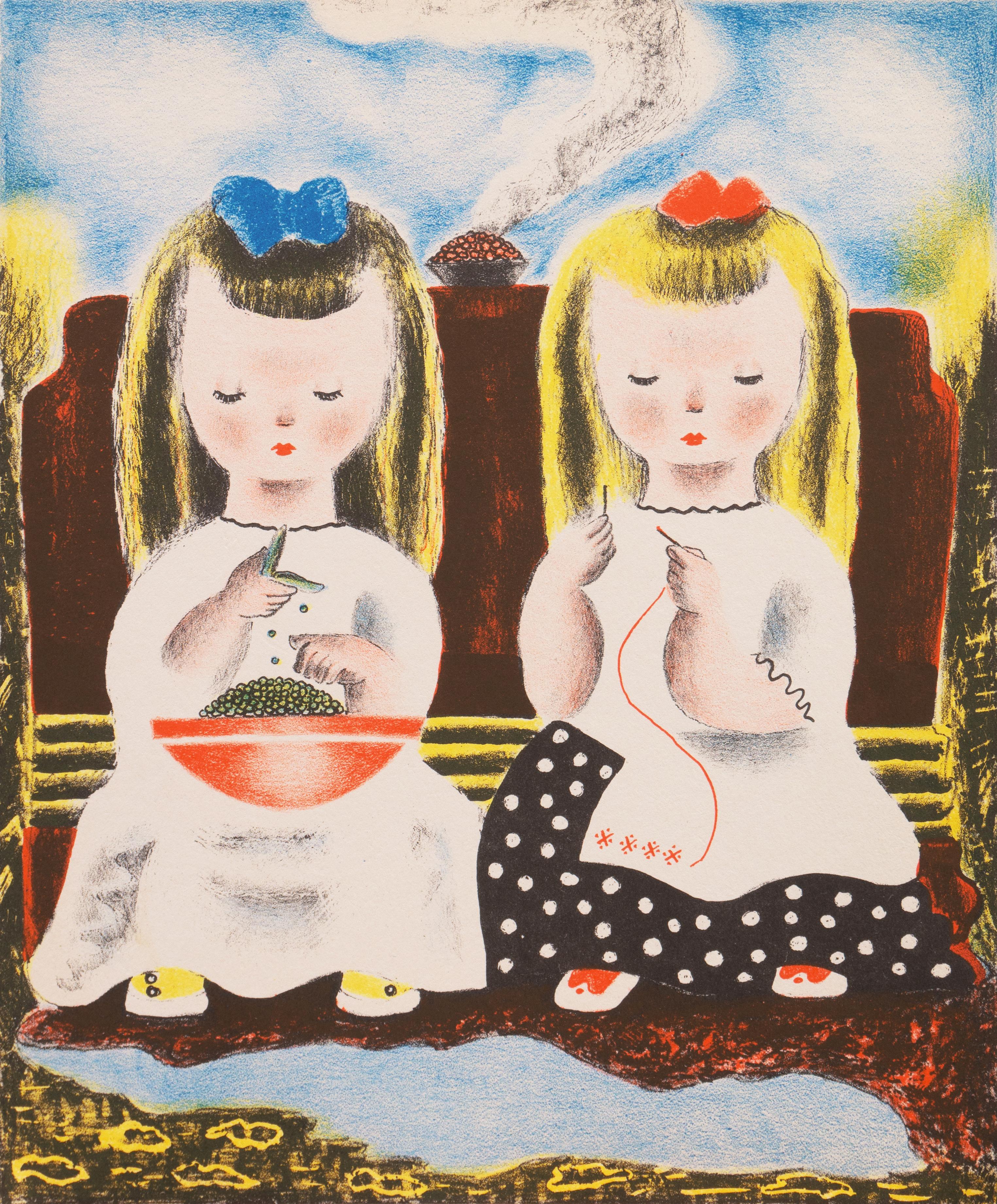 'Judy & Jessica', Art Deco Lithograph, Woman Artist, Salon d'Automne, Paris, AIC