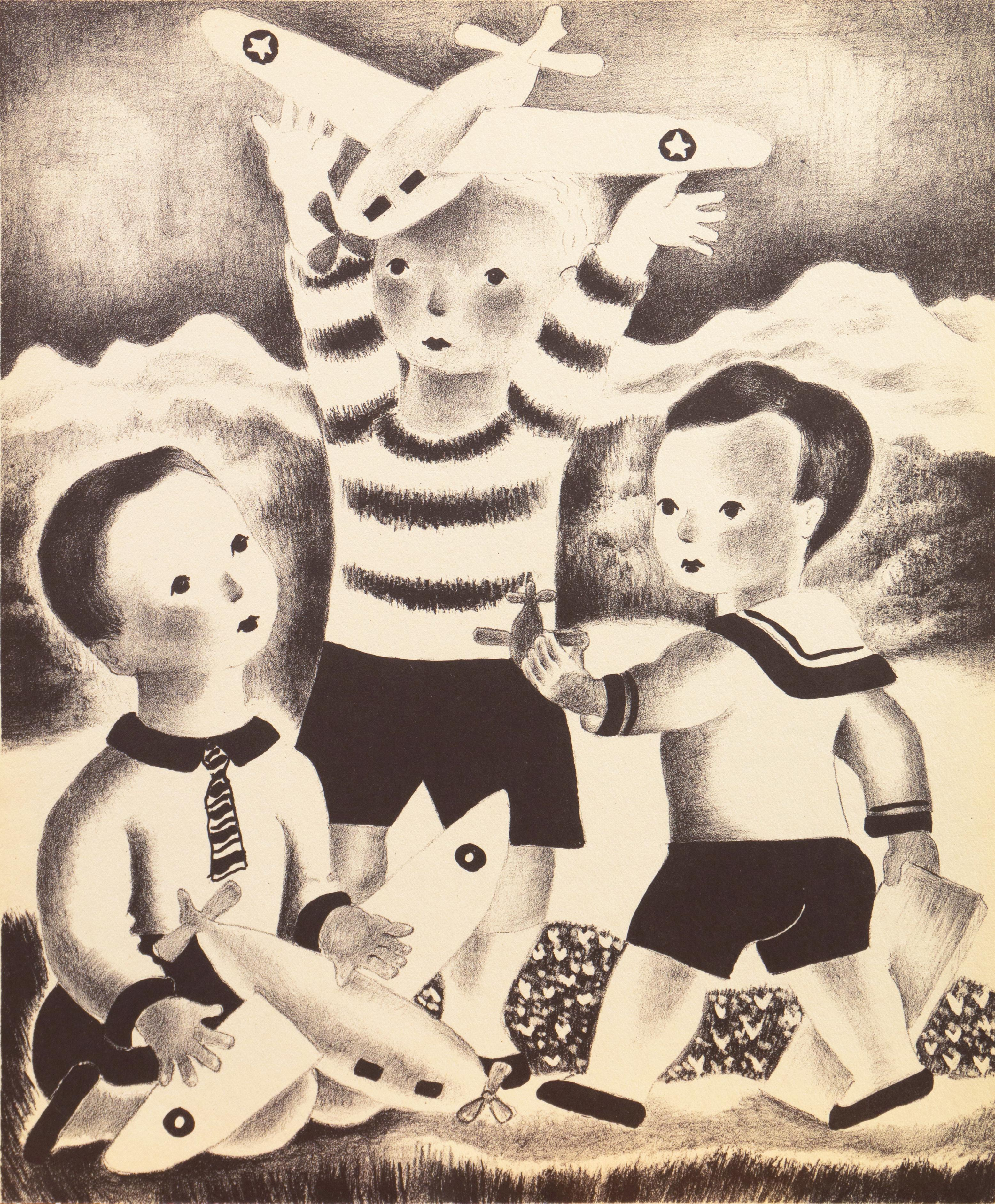 'David, Walter & Blake', Woman Artist, Art Deco, children, Walker Art Center