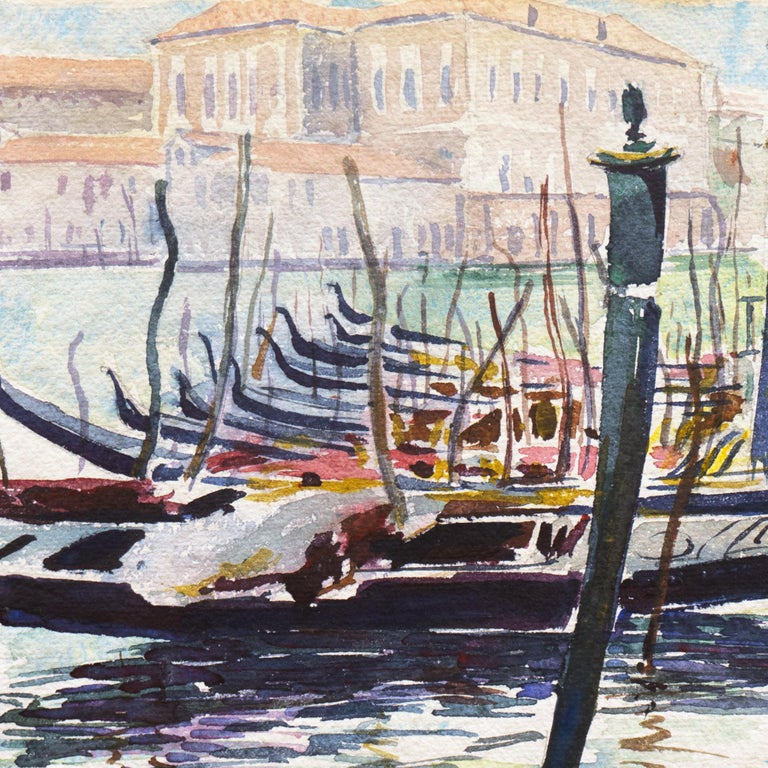 'View of Venice', NWS, PAFA, Art Institute Chicago, Ohio University - Gray Landscape Art by Ralph Fanning