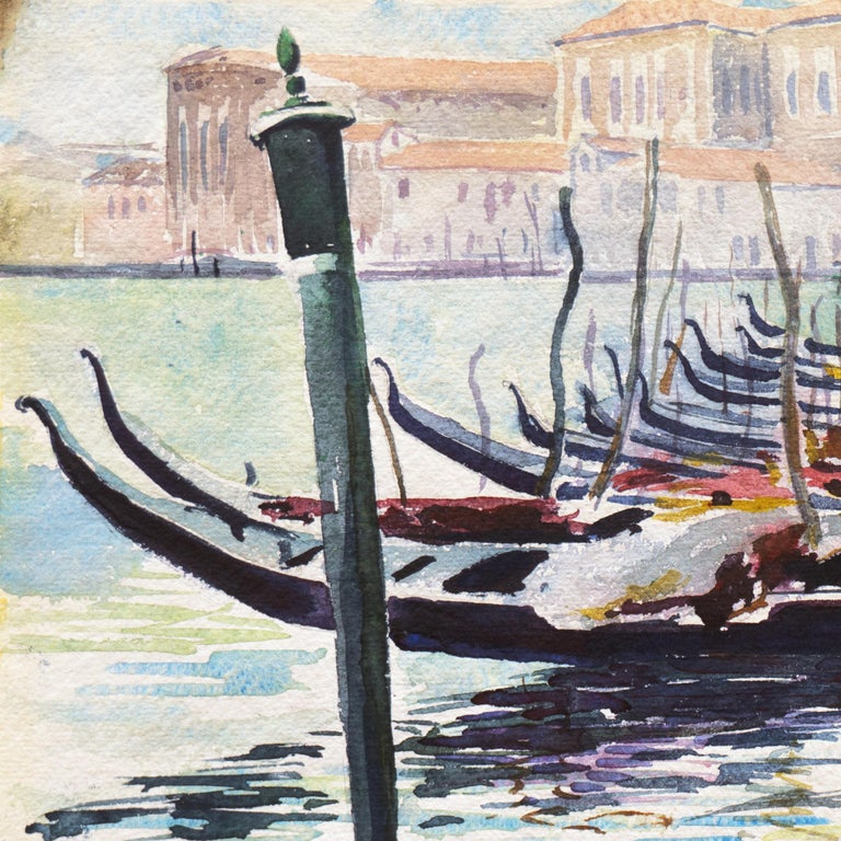 'View of Venice', NWS, PAFA, Art Institute Chicago, Ohio University For Sale 3