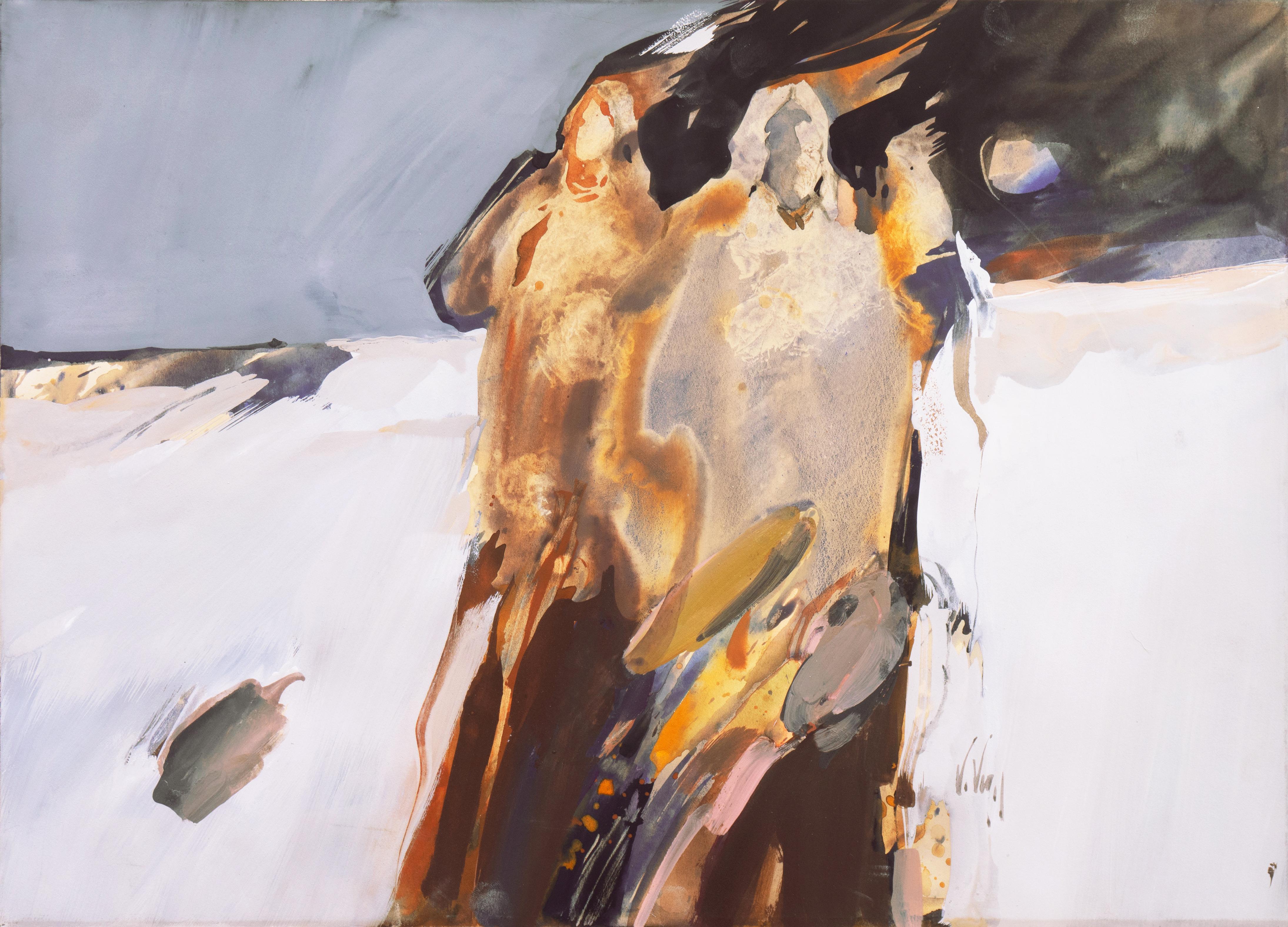 'Horizon Rise', American Figurative Abstraction, Native American