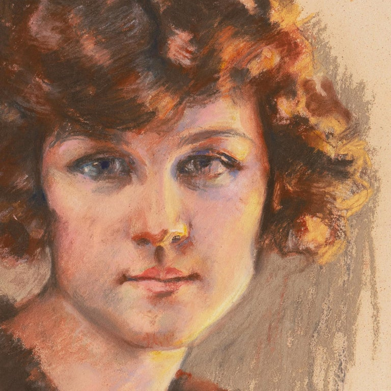 Twenties Study, Young Woman with Bobbed Hair titled 'Vancouver Girl', AIC, Paris For Sale 3