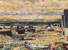 'Fishing Boats on the Atlantic Coast', School of Paris, Post Impressionism