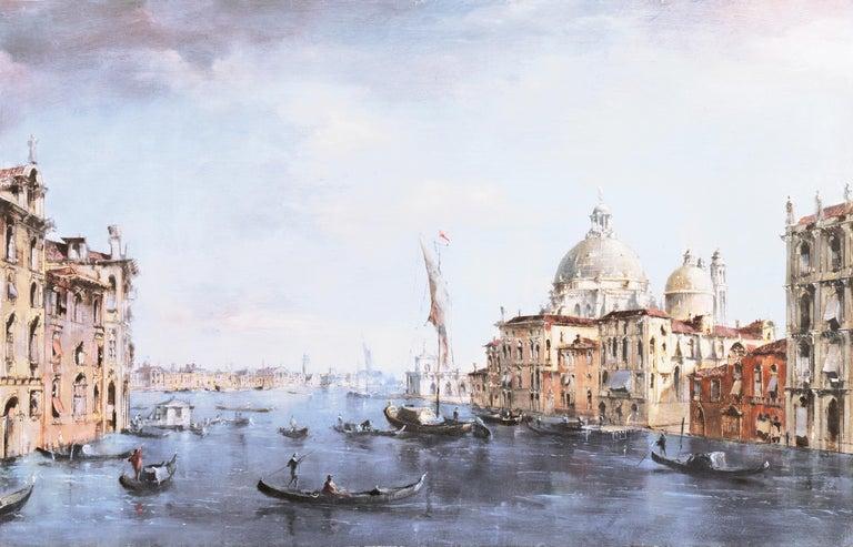 Santa Maria della Salute from the Cannaregio Canal, Venice (Venetian Vedute) - Painting by Peter Gotz Pallmann