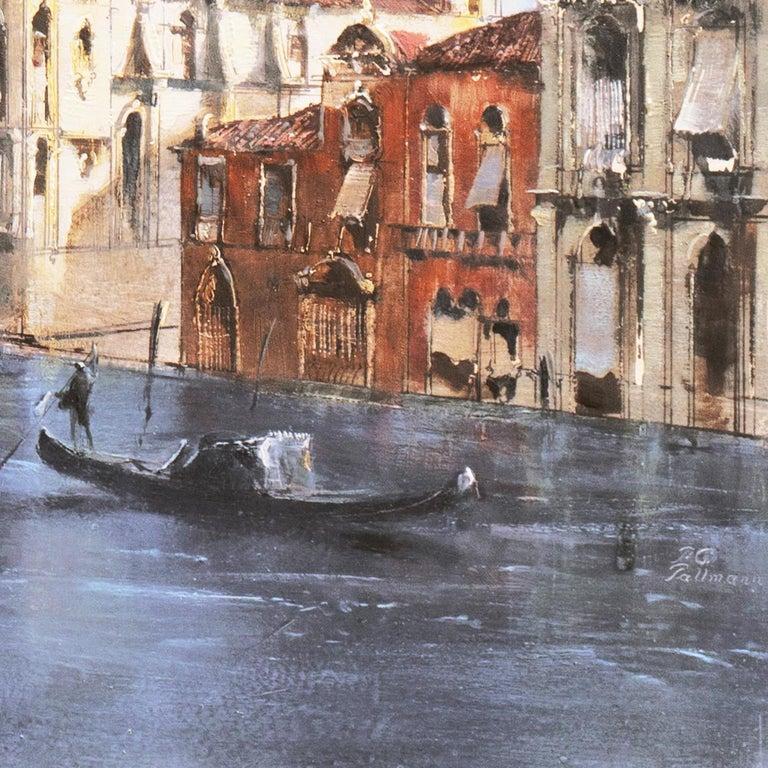 Santa Maria della Salute from the Cannaregio Canal, Venice (Venetian Vedute) - Brown Landscape Painting by Peter Gotz Pallmann