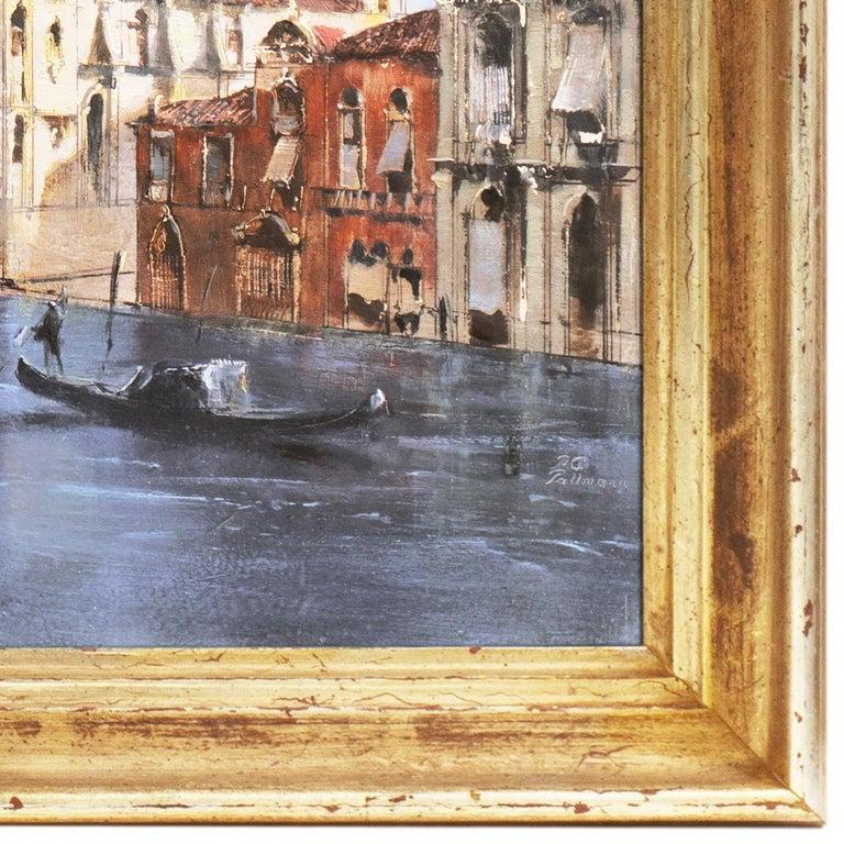 Santa Maria della Salute from the Cannaregio Canal, Venice (Venetian Vedute) - Academic Painting by Peter Gotz Pallmann