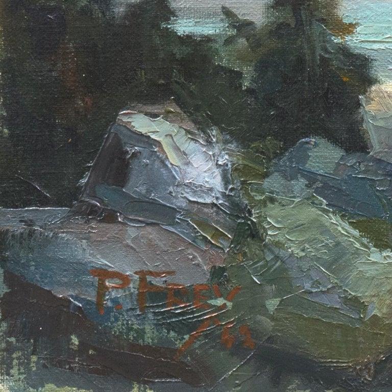 'High Sierras, California', Plein Air Impressionist Oil, AIC, San Francisco - Painting by Joseph Paul Frey