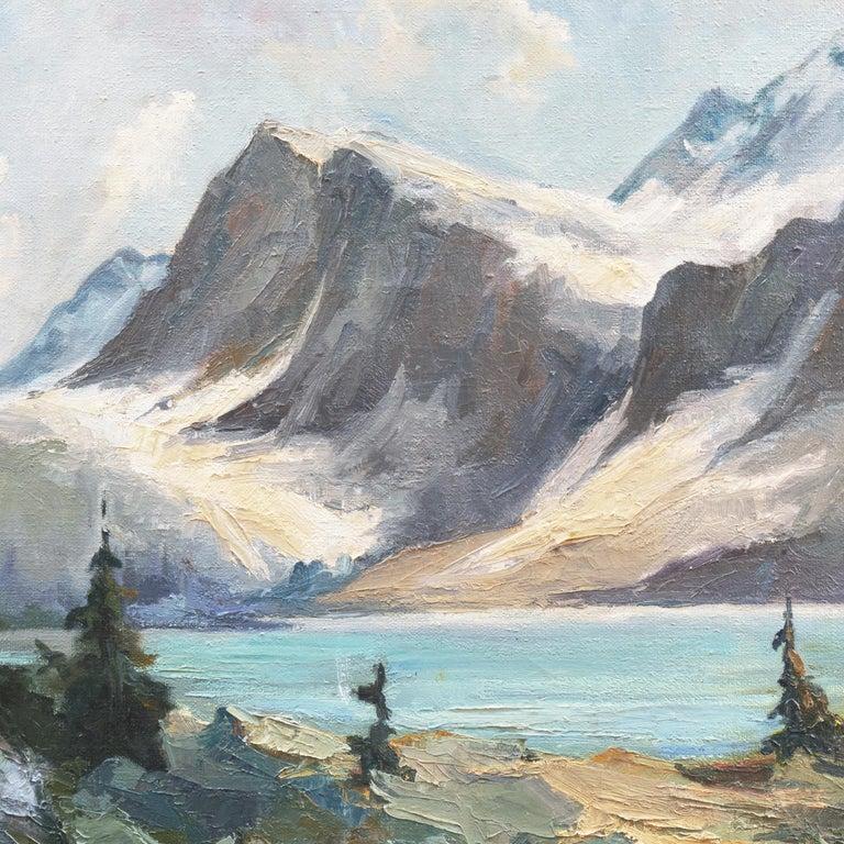 'High Sierras, California', Plein Air Impressionist Oil, AIC, San Francisco For Sale 2