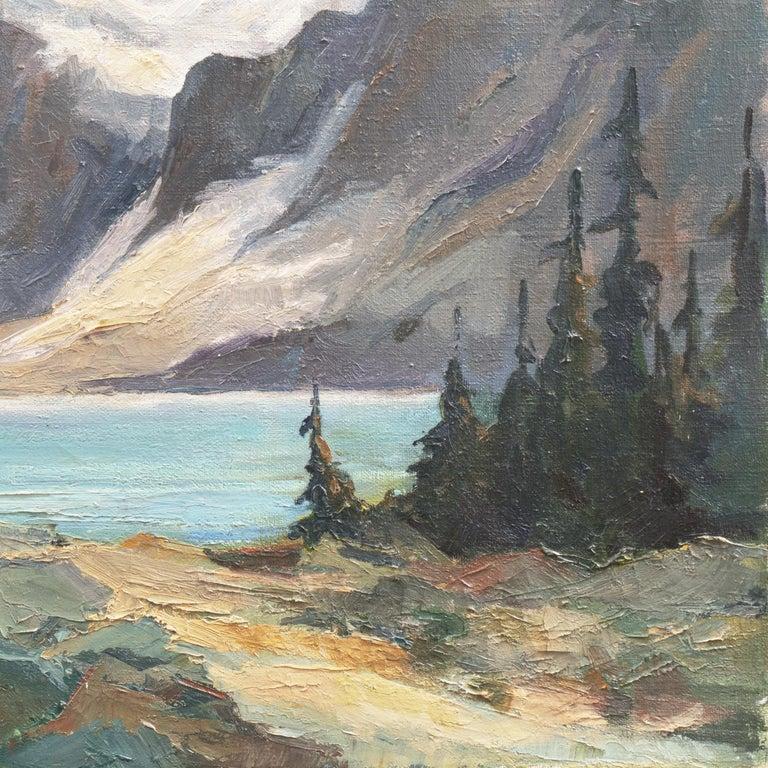 'High Sierras, California', Plein Air Impressionist Oil, AIC, San Francisco For Sale 1