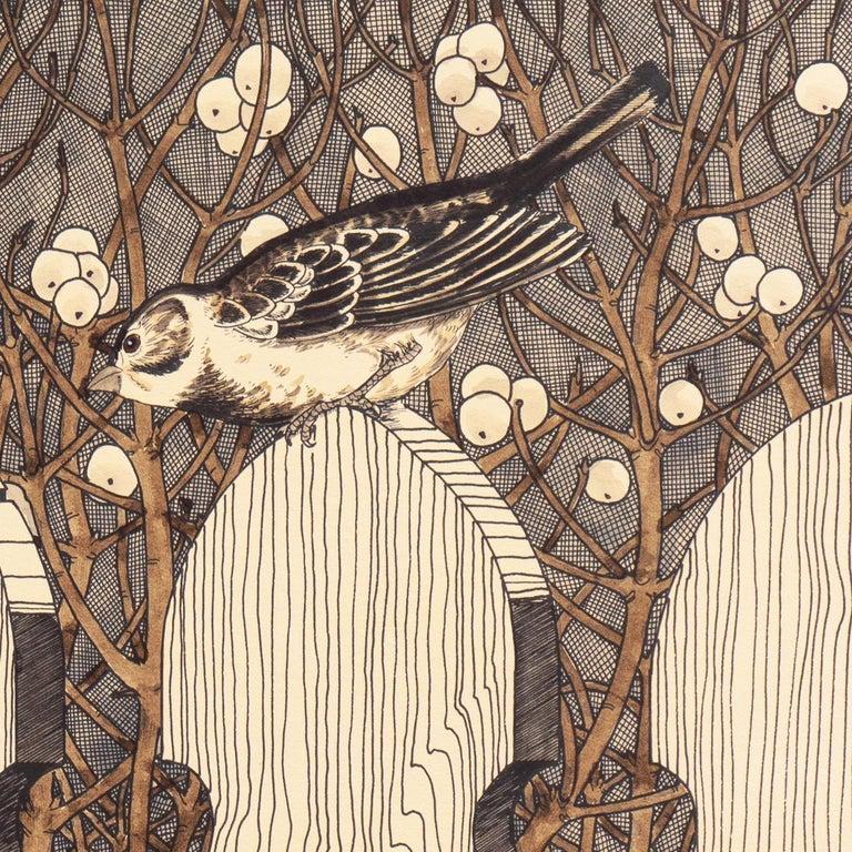 Autumn Gothic    (Passerine, Birdhouse chaffinch, Christmas, ) For Sale 1