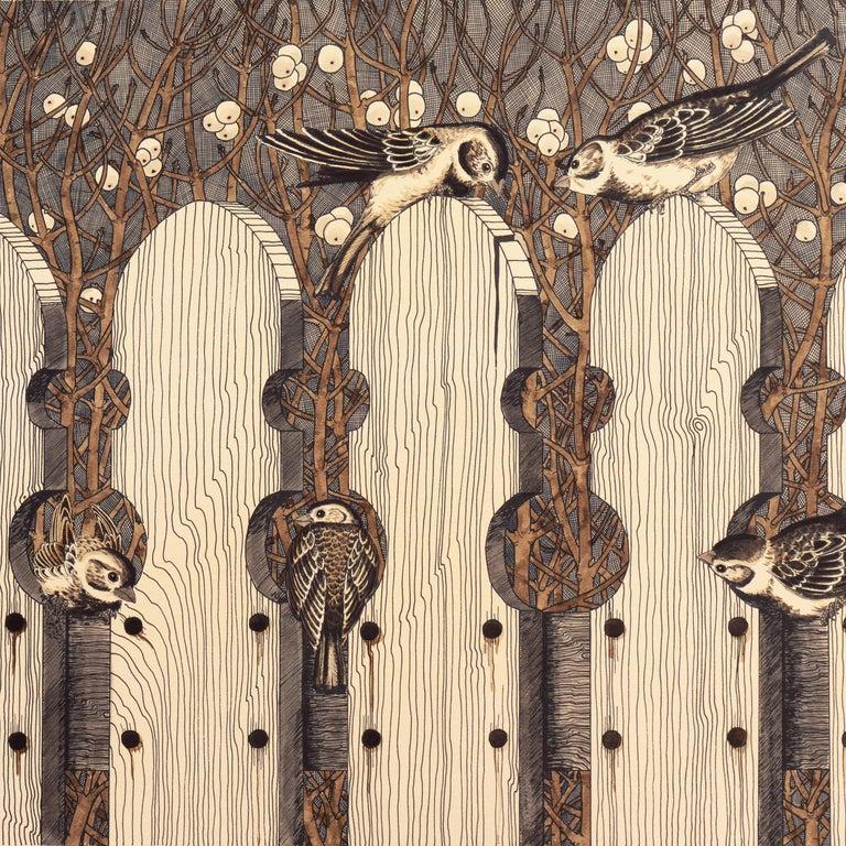 Autumn Gothic    (Passerine, Birdhouse chaffinch, Christmas, ) For Sale 3