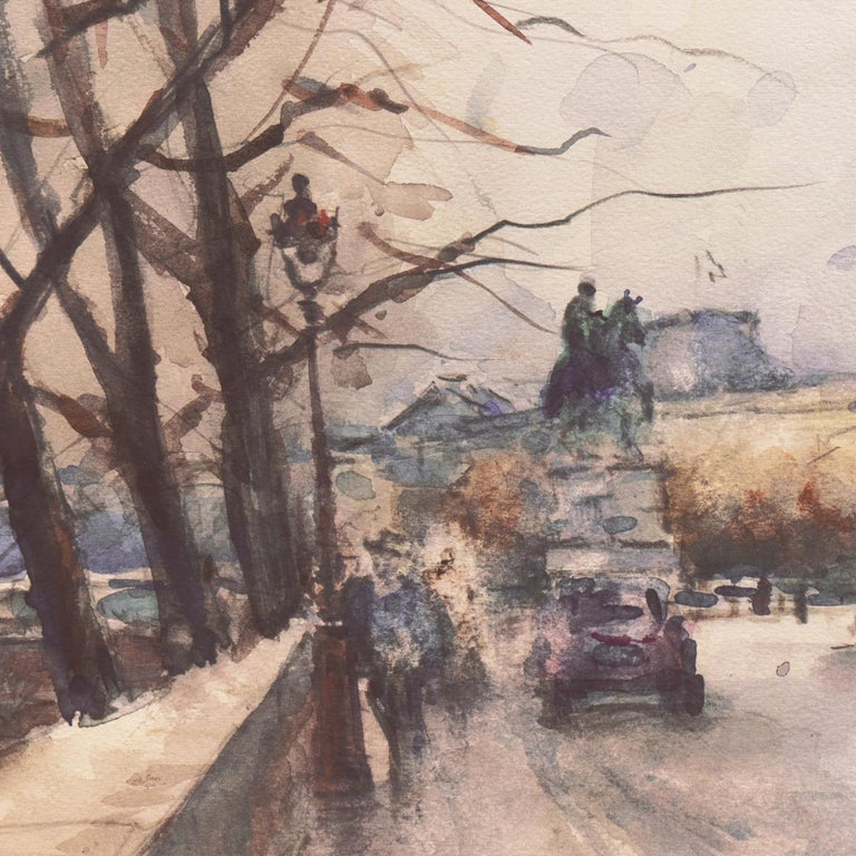 'Rainy Day in Paris', Impressionist View of the Seine and the Pont Neuf For Sale 2