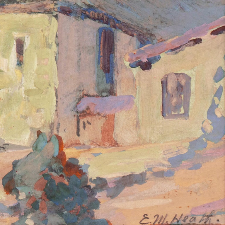 Early Impressionist View of the Old Carmel Mission, California  For Sale 3