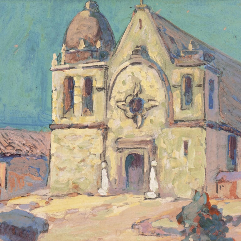 Early Impressionist View of the Old Carmel Mission, California  For Sale 4