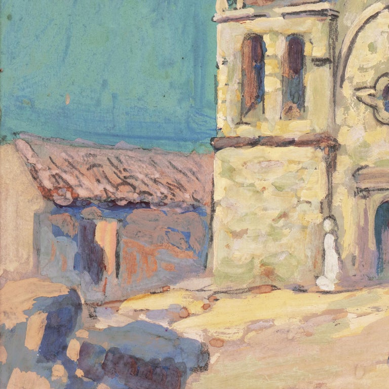 Early Impressionist View of the Old Carmel Mission, California  For Sale 5