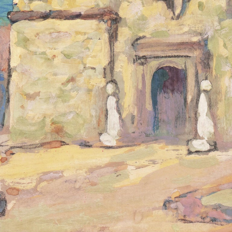 Early Impressionist View of the Old Carmel Mission, California  For Sale 6