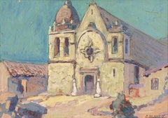 Early Impressionist View of the Old Carmel Mission, California