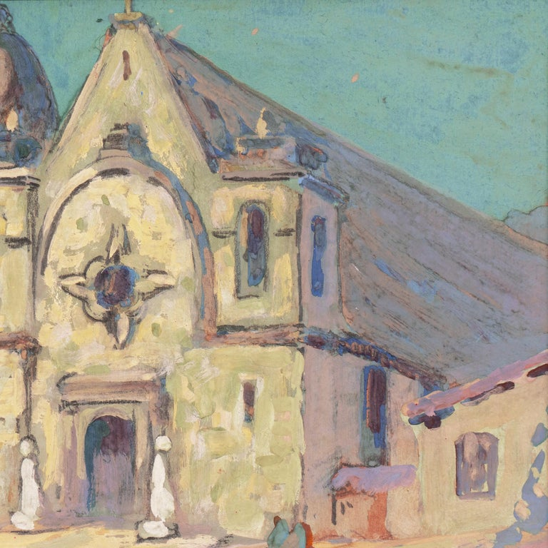 Early Impressionist View of the Old Carmel Mission, California  For Sale 7