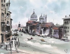 The Cannaregio Canal with a View of the Santa Maria della Salute, Venice