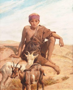 'A Young Goatherd', Orientalism, Egypt, Algeria, Morocco, Royal Academy, Benezit
