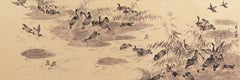 'Geese on a Lake', Chinese scroll, calligraphy, Sumi-e, Song, Yuan Dynasty