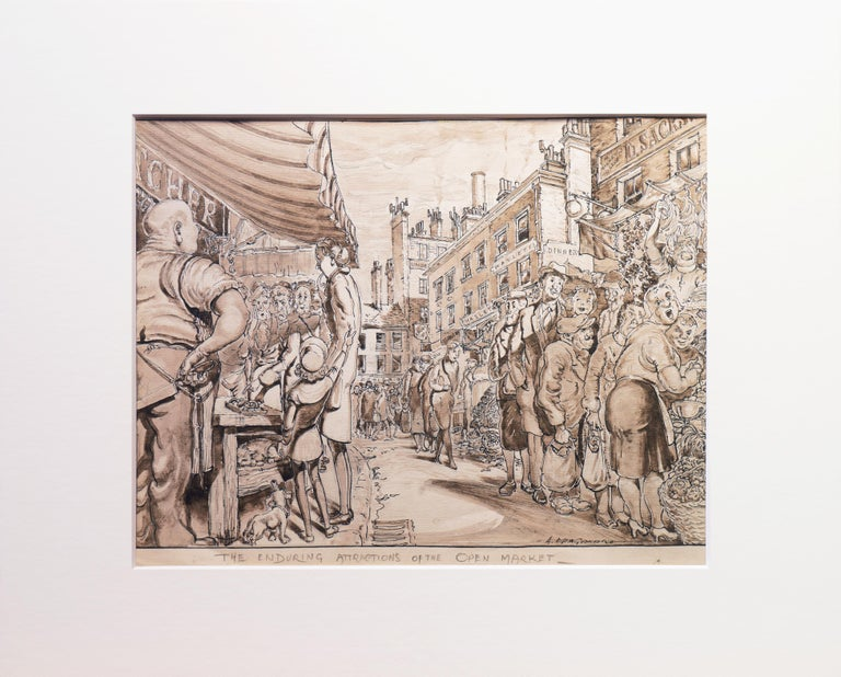 'The Enduring Attractions of the Open Market', Capitalism Satire - Realist Art by Antonio Manganaro