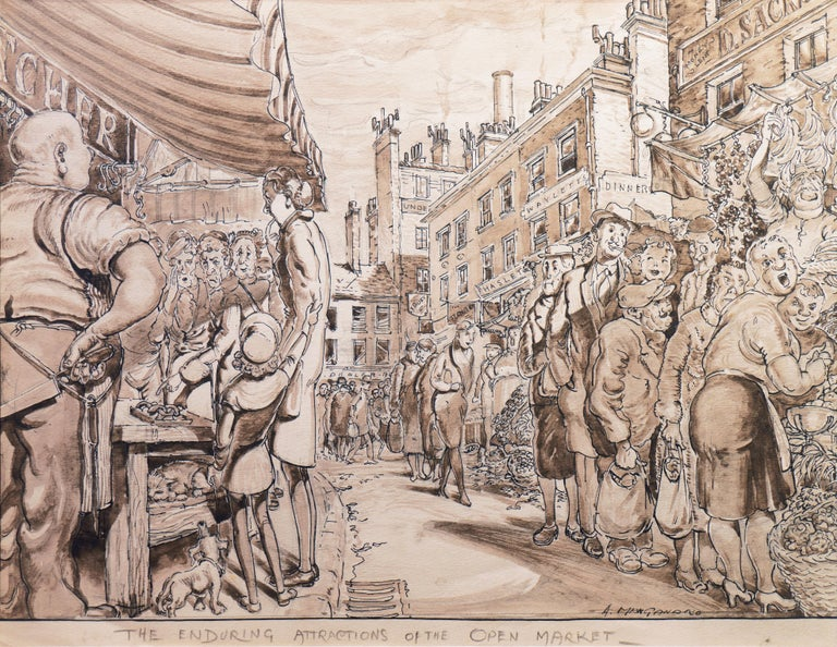 'The Enduring Attractions of the Open Market', Capitalism Satire - Art by Antonio Manganaro