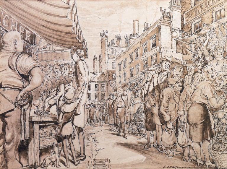 Antonio Manganaro Figurative Art - 'The Enduring Attractions of the Open Market', Capitalism Satire