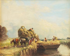 'The Harvesters', Impressionist Figural Landscape, New Bedford, Massachusetts