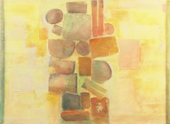 'Construction in Saffron and Tourmaline', French Geometric Abstract, Los Robles