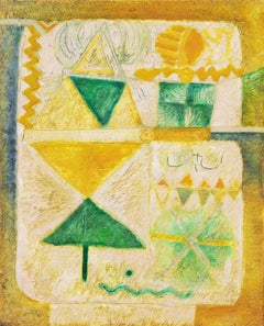 'Organic Abstract in Yellow and Green', Jakarta, Indonesian Art Academy, Ghent
