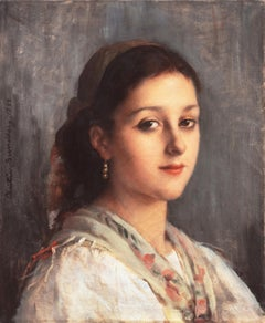 'Young Parisienne with a Scarf and Earring'