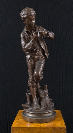 'The Fisher Boy', Large Bronze, Medal of Honor, Paris Universal Exposition, 1900