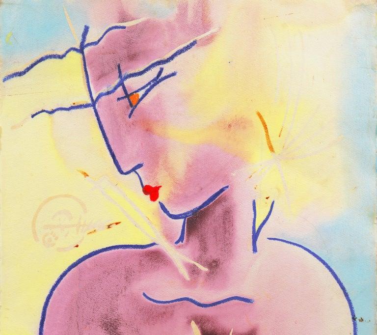 Dawn O'Malley Figurative Art - 'Classical Modern', Stylized Figural by Woman Artist