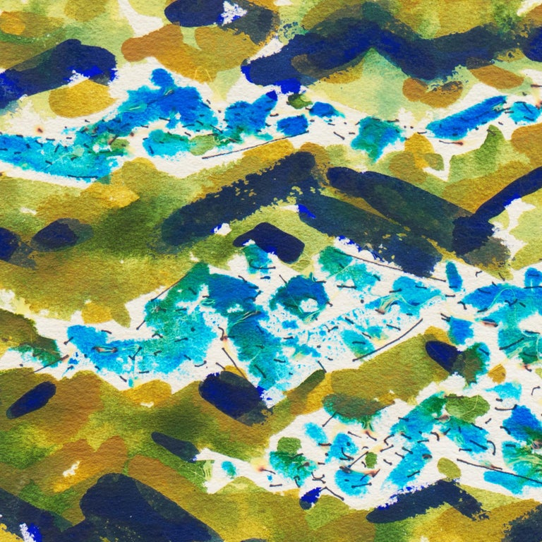 'Abstracted Lake Landscape', Wisconsin artist For Sale 1