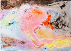 'Flight to Byzantium', Large Abstract Monotype by San Francisco Bay Area artist