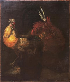 'Cock Fight', 17th Century French School